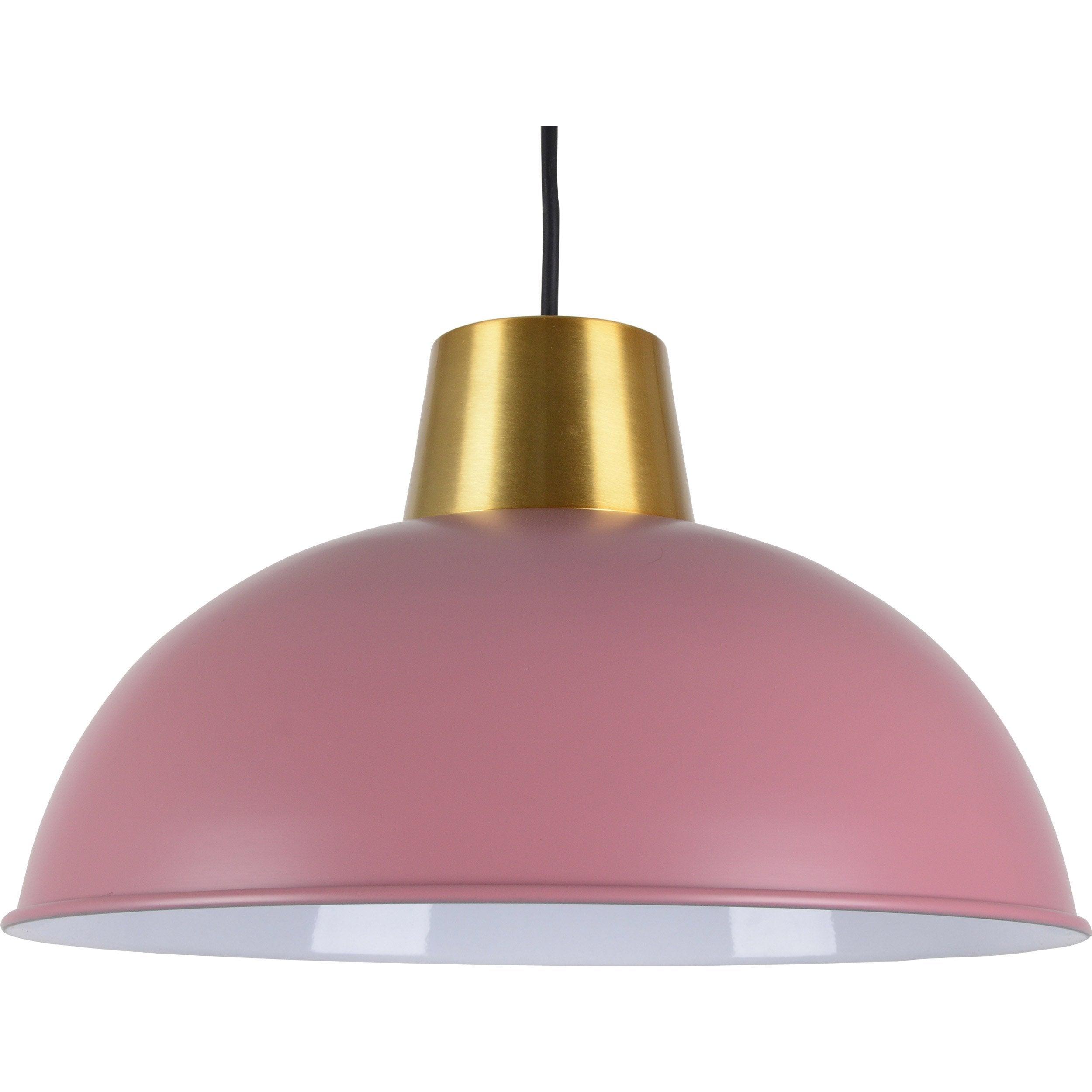 Suspension métal rose/laiton BOUDET Marsdor 1 lumière(s) D.31 cm