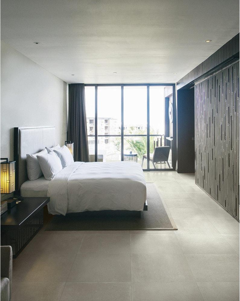 Carrelage Effet Beton Cuisine carrelage sol et mur intenso effet béton crème idea l.60 x l.60 cm