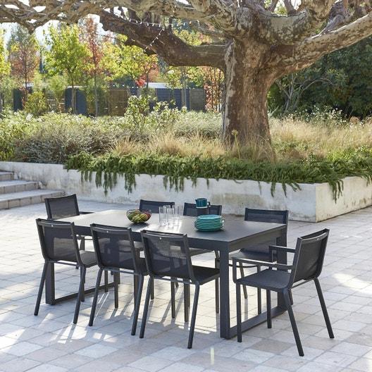 Salon de jardin Horizon aluminium, 8 personnes | Leroy Merlin