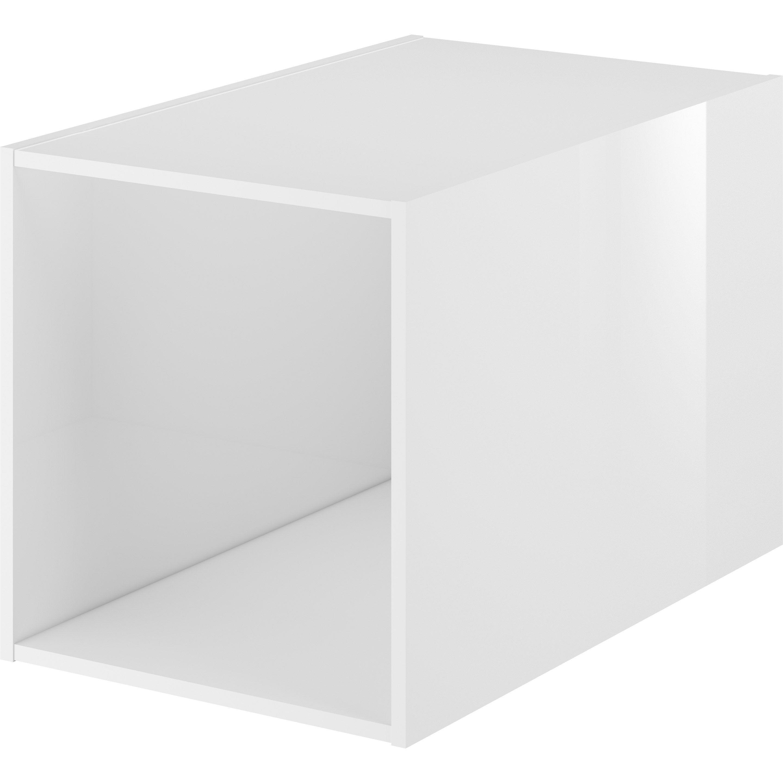 Cube de rangement l.30 x H.32 x P.48 cm, blanc, Neo line   Leroy Merlin