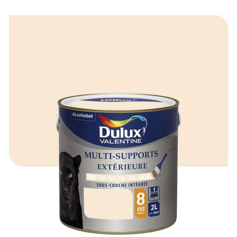 Peinture Multimatériau Extérieur Blanc Cassé Satiné Dulux Valentine 2 L