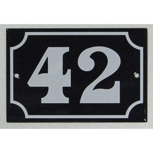 plaque maill e 42 en acier leroy merlin. Black Bedroom Furniture Sets. Home Design Ideas