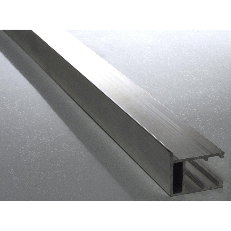 Profil bordure pour plaque ep 16 mm aluminium l 4 m - Plaque alu pour cuisine ...