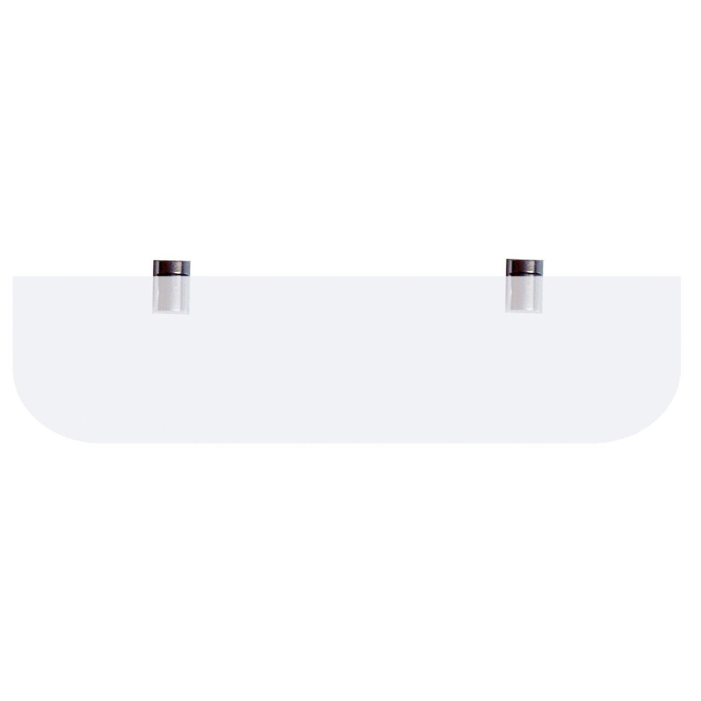 tablette + supports, carré avec coins arrondis, verre simple | leroy