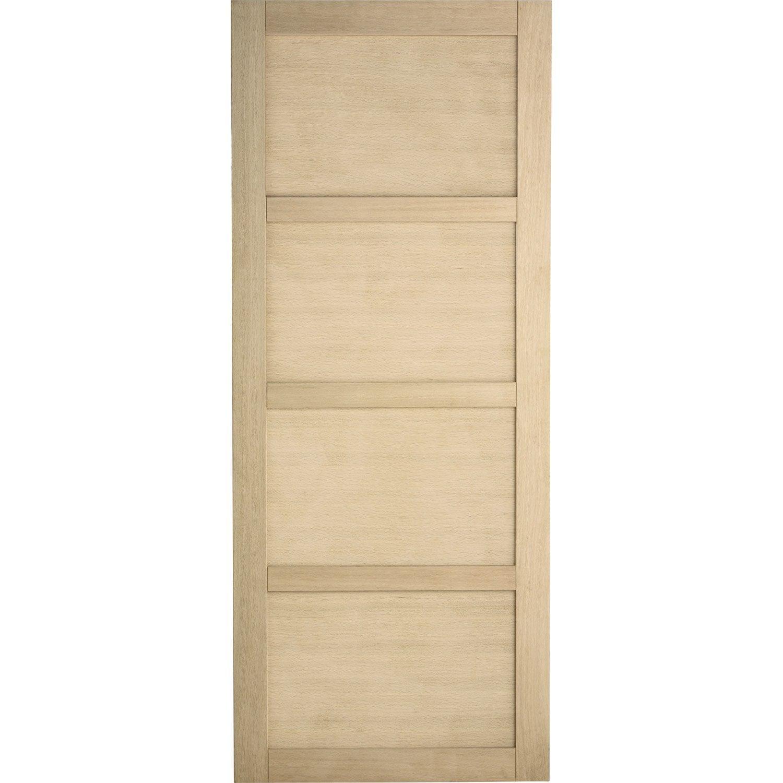 porte coulissante ch ne plaqu marron paris artens 204 x 83 cm leroy merlin. Black Bedroom Furniture Sets. Home Design Ideas