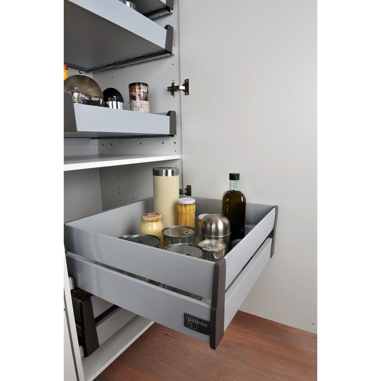 tiroir l 39 anglaise double hauteur pour meuble cm delinia leroy merlin. Black Bedroom Furniture Sets. Home Design Ideas