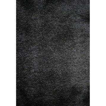 Tapis de d coration tapis salon chambre entr e leroy merlin - Tapis shaggy noir brillant ...