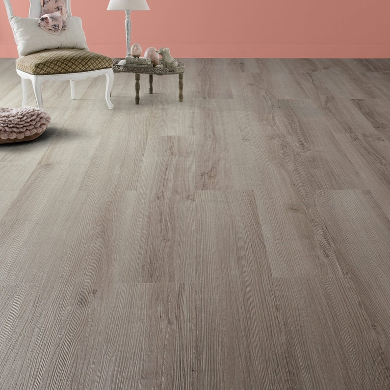 lame pvc clipsable chene cendr artens camden leroy merlin. Black Bedroom Furniture Sets. Home Design Ideas