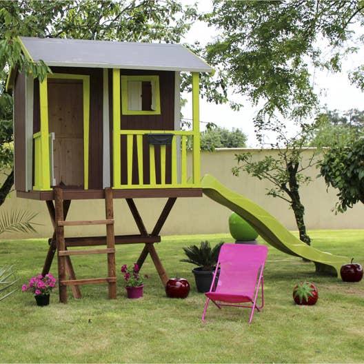maisonnette bois maison dans les arbres soulet m leroy merlin. Black Bedroom Furniture Sets. Home Design Ideas