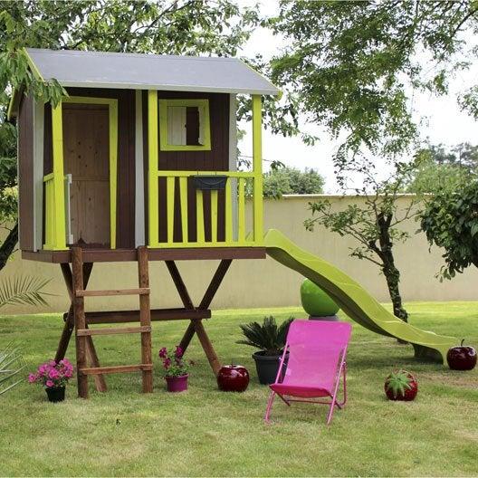 Maisonnette chalet maison cabane enfant au meilleur for Cabane jardin sur mesure