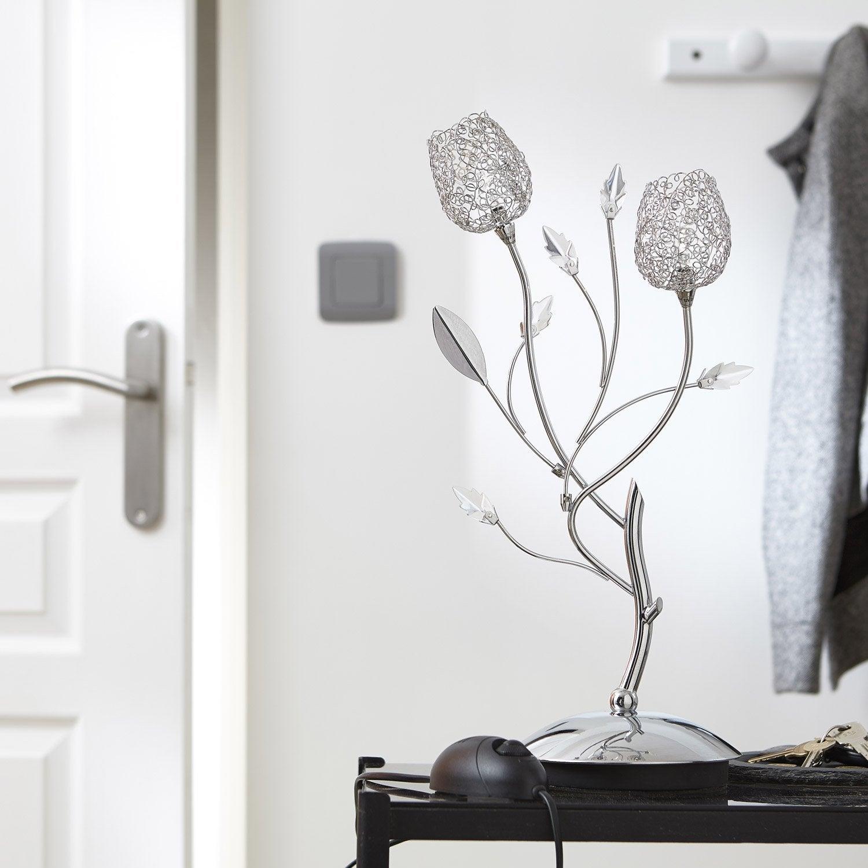 lampe g4 adriana seynave m tal chrom 20 w leroy merlin. Black Bedroom Furniture Sets. Home Design Ideas