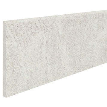 Lot de 2 plinthes Helsinka blanc, l.10 x L.60 cm
