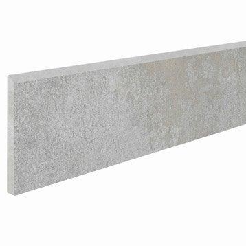 Lot de 2 plinthes Laiton gris clair, l.7.5 x L.60.4 cm