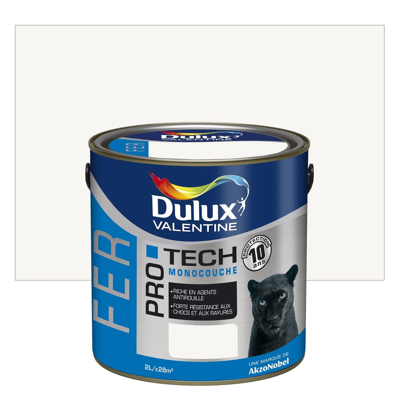 Peinture Fer Extérieur Protech DULUX VALENTINE, Blanc, 2 L ...
