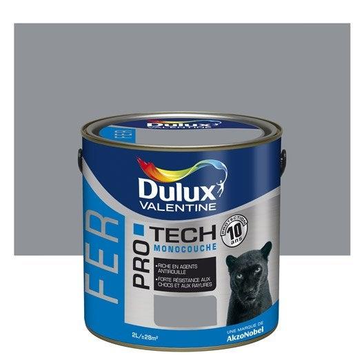 Peinture fer ext rieur protech dulux valentine gris acier for Peinture porte acier exterieur
