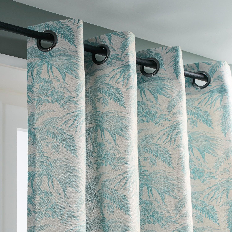 Rideau tamisant, Equatoriale, celadon, l.135 x H.250 cm