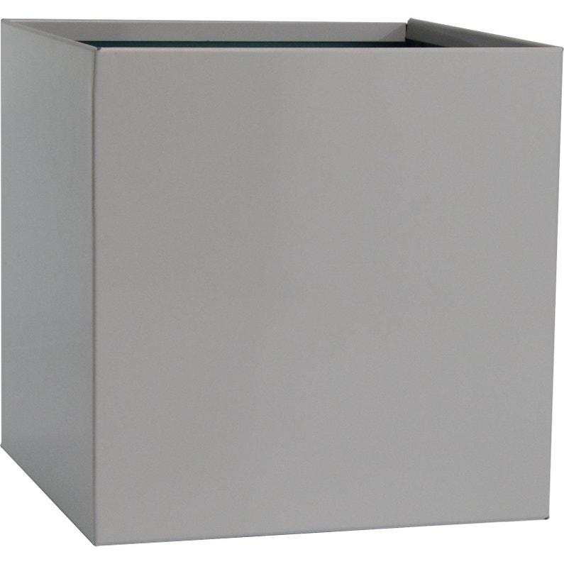 Récupérateur D Eau De Pluie Carrée Aluminium Blanc