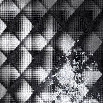 Papier peint intissé Braille chester noir