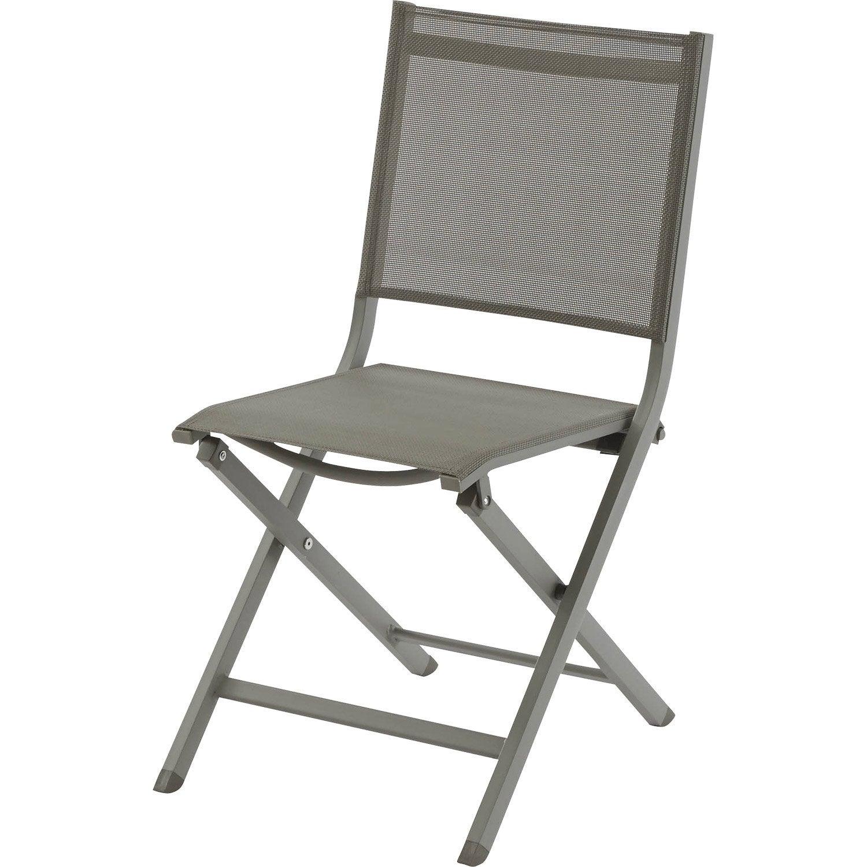 chaise de jardin en aluminium thema taupe/taupe | leroy merlin