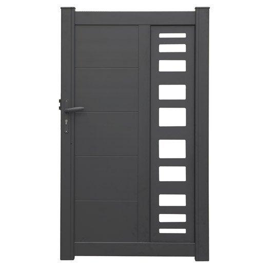 portillon battant en aluminium portland x cm leroy merlin. Black Bedroom Furniture Sets. Home Design Ideas