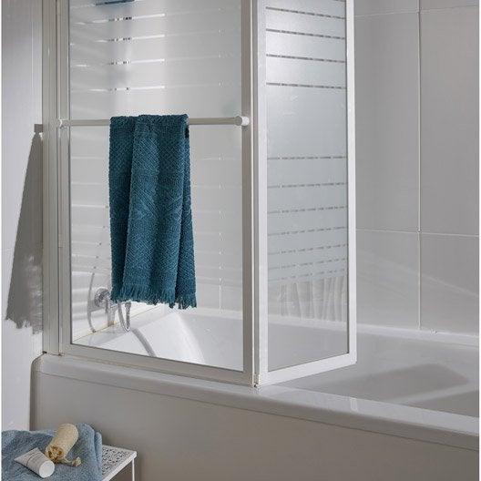 pare baignoire 2 volets verre de s curit 3 mm s rigraphi lm 104 leroy merlin. Black Bedroom Furniture Sets. Home Design Ideas