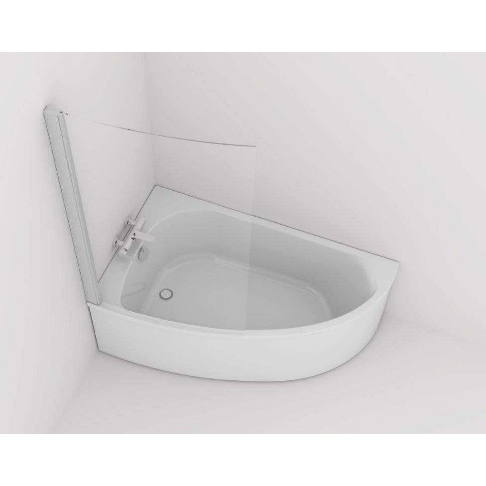 baignoire asym trique gauche cm blanc jacob. Black Bedroom Furniture Sets. Home Design Ideas