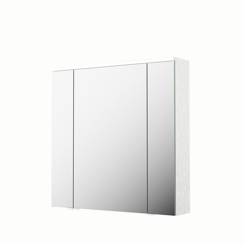 Armoire de toilette lumineuse l. 75 cm, blanc, SENSEA Neo | Leroy Merlin