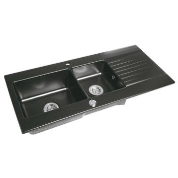 Moderne Evier de cuisine - encastrable ou à poser, inox, quartz, résine au ZY-53