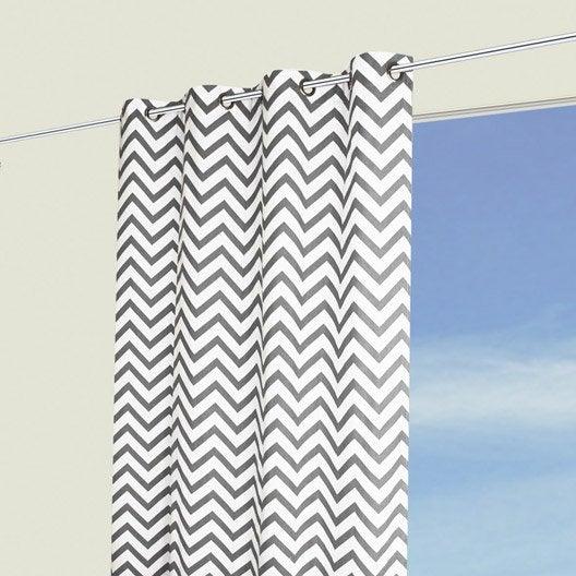 rideau wavy gris blanc x cm leroy merlin. Black Bedroom Furniture Sets. Home Design Ideas