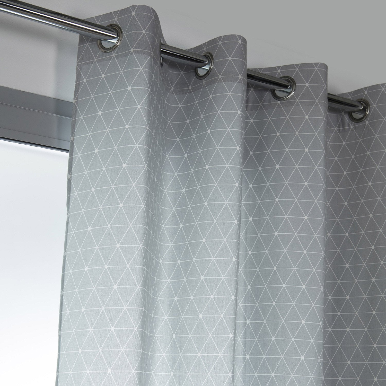 rideau tamisant antares gris galet n 5 x cm leroy merlin. Black Bedroom Furniture Sets. Home Design Ideas