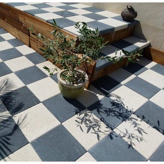 pav b ton dalle gris ardoise cm x cm x mm leroy merlin. Black Bedroom Furniture Sets. Home Design Ideas