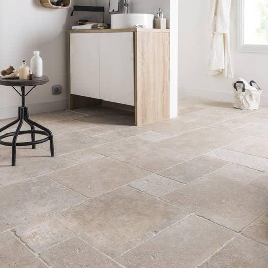 travertin sol et mur beige effet pierre travertin x l. Black Bedroom Furniture Sets. Home Design Ideas