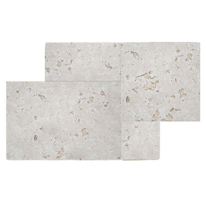 Travertin sol et mur intenso pierre beige Travertin l.40 x L.60 cm ...