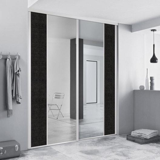 porte de placard coulissante sur mesure spaceo variance droite de 60 1 80 cm leroy merlin. Black Bedroom Furniture Sets. Home Design Ideas