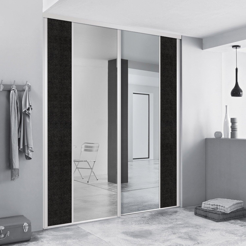 porte de placard coulissante sur mesure spaceo variance droite de 80 1 100 cm leroy merlin. Black Bedroom Furniture Sets. Home Design Ideas