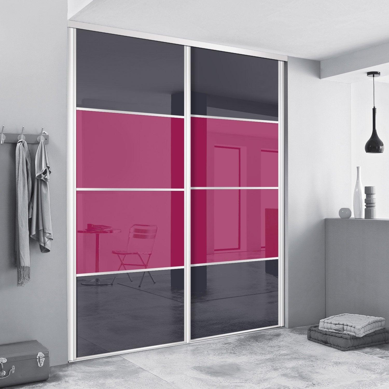 stunning porte de placard coulissante surmesure spaceo alliance de cm with petite porte de placard. Black Bedroom Furniture Sets. Home Design Ideas