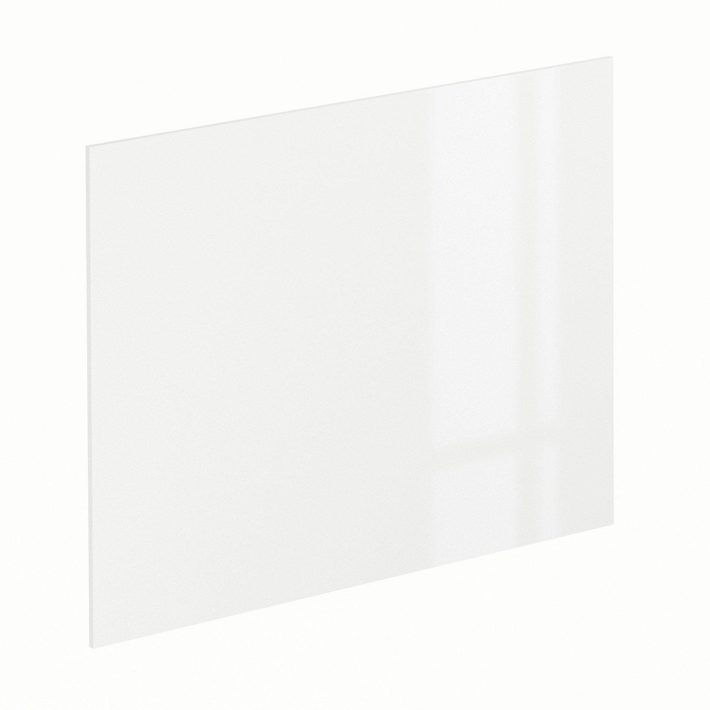 cr dence stratifi blanc brillant effet b ton gris cm x cm leroy merlin. Black Bedroom Furniture Sets. Home Design Ideas