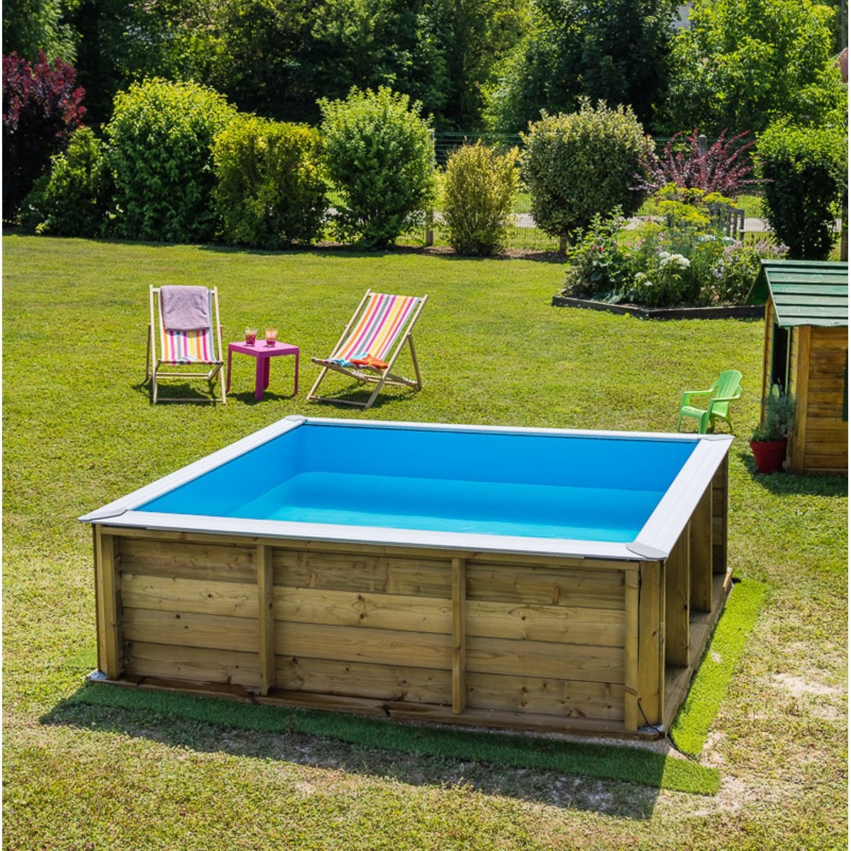 Piscine bois hors sol idees de decoration for Piscine en tole pas cher