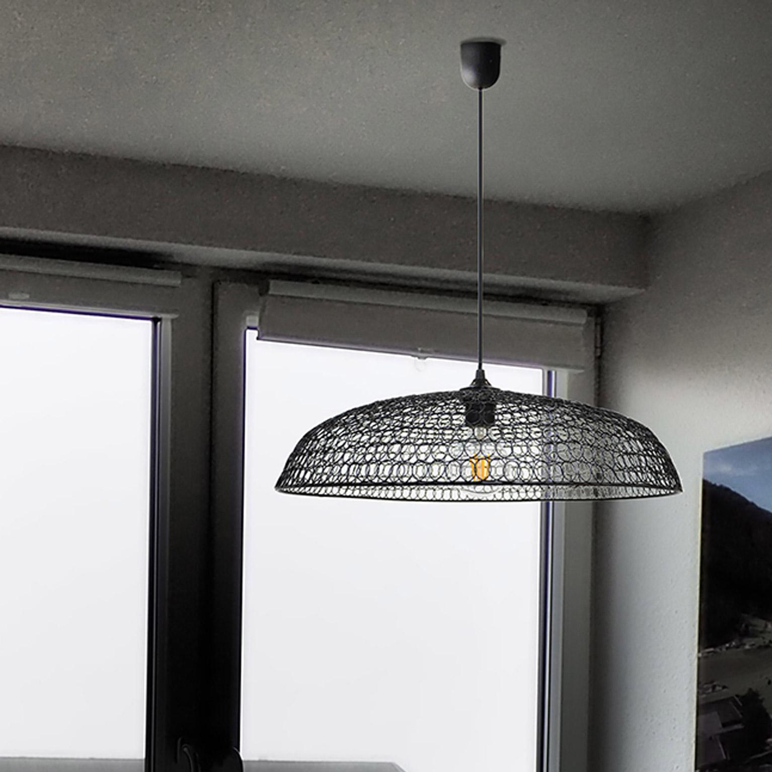 Suspension, vintage métal noir BOUDET Fissia 1 lumière(s) D.51 cm