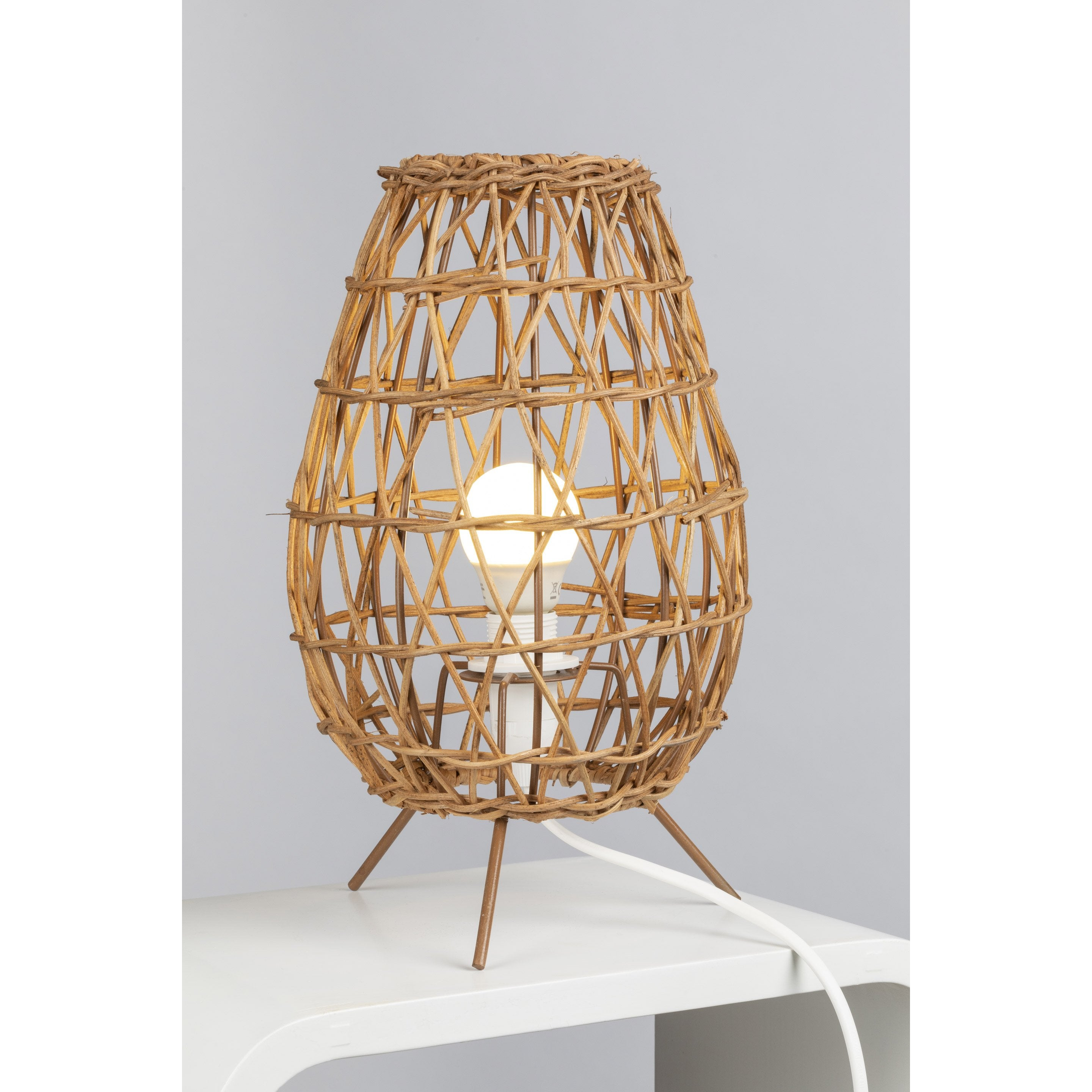 Lampe, nature, rotin naturel, MATHIAS Tiriao
