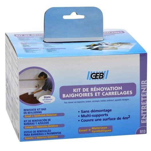 Kit de r novation pour salle de bains blanc geb leroy merlin for Kit de salle de bain