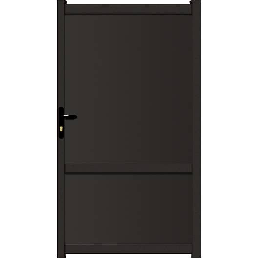 portillon battant brevine x cm anthracite leroy merlin. Black Bedroom Furniture Sets. Home Design Ideas
