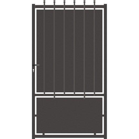 portillon battant cr te festonne 185 cm gris anthracite leroy merlin. Black Bedroom Furniture Sets. Home Design Ideas