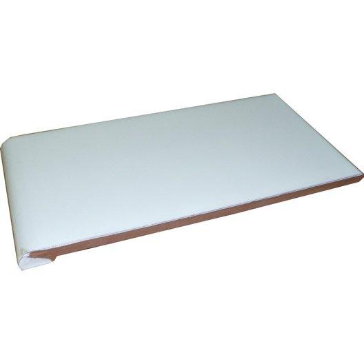 appui de fenêtre blanc, l.0.28 x l.0.14 m | leroy merlin
