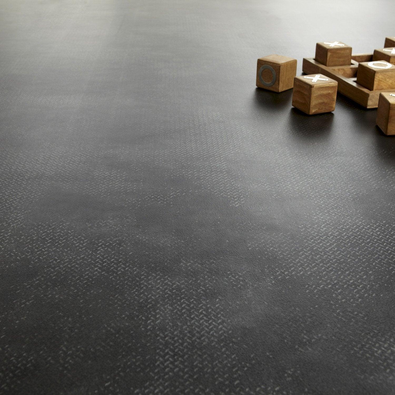sol pvc noir brooklyn gerflor texline hqr l 4 m leroy merlin. Black Bedroom Furniture Sets. Home Design Ideas