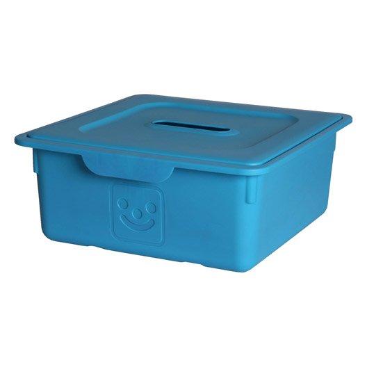 bac de rangement plastique bleu clair l33xh14xp32cm leroy merlin. Black Bedroom Furniture Sets. Home Design Ideas
