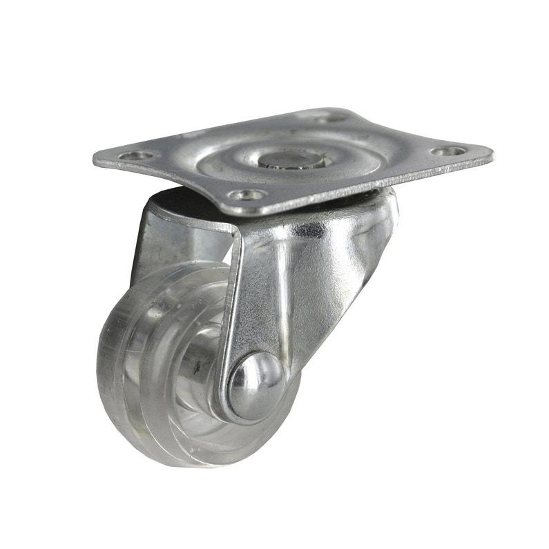 Roulette pivotante à platine, Diam.30 mm
