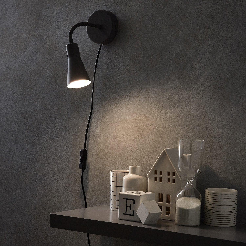 Applique, pop métal gris INSPIRE Skit 1 lumière(s)