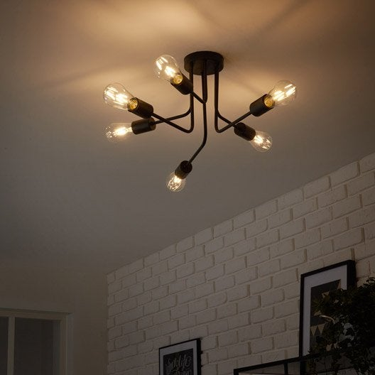 plafonnier au meilleur prix leroy merlin. Black Bedroom Furniture Sets. Home Design Ideas