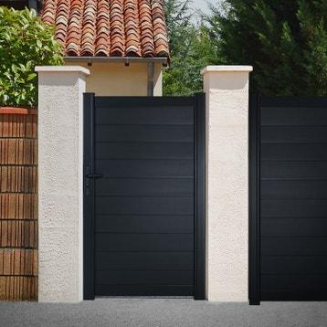 Portillon aluminium, bois, fer, PVC au meilleur prix | Leroy ...